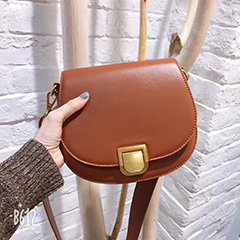 Popular Calfskin Saddle Bag Crossbody Bag LH2753_3 Colors