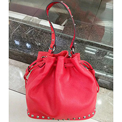 Drawstring Real Leather Barrel Bag Shoulder Bag LH2767_4 Colors