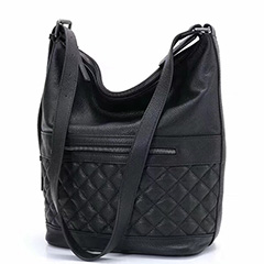 Quilted Women Soft Leather Hobo Slouchy Shoulder Bag LH2765_3 Colors