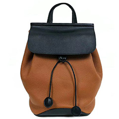 Drawstring Genuine Real Leather Backpack LH2762_3 Colors