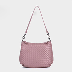 Woven Sheepskin Leather Shoulder Bag LH2770_2 Colors