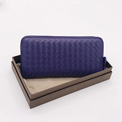 Woven Sheepskin Zip around Wallet LH2774_5 Colors