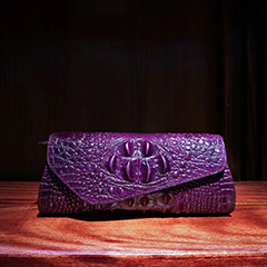 Crocodile Pattern Real Leather Clutch LH1760A_5 Colors