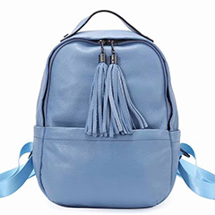 Tassels Real Leather Shoulder Backpack for Women LH2806