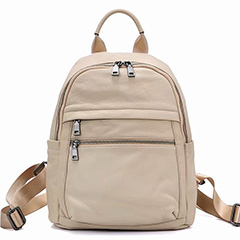 Classic Real Leather Shoulder Backpack for Women LH2804_3 Colors