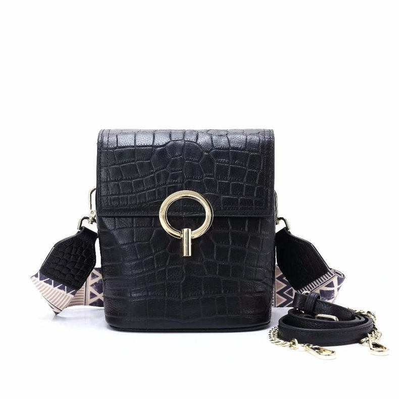 Crocodile Pattern Leather Crossbody Bag for Women LH2809_4 Colors