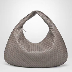 Woven Sheepskin Leather Hobo Slouchy Bag LH2825L_3 Colors