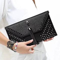 Fashion Tassels Leather Purse Clutch Bag LH2883
