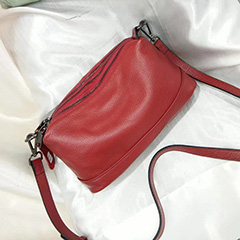 3 Sections Real Leather Crossbody Bag LH2906_5 Colors