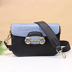 Typical Crocodile Pattern Real Leather Crossbody Bag LH2974_ 3 Colors