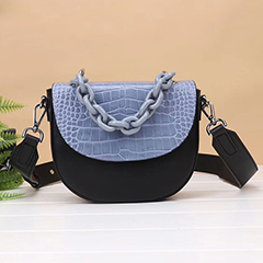Crocodile Pattern Leather Crossbody Bag LH2973_3 Colors