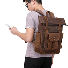 Leisure Canvas Mens Backpack Travelling Bag LH3007_4 Colors